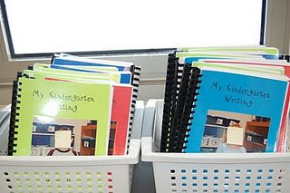 bind kids writing together and add to classroom library