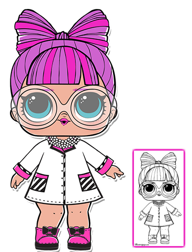 P H D B B Series 3 L O L Surprise Doll Coloring Page Lol Dolls Baby Girl Art Cute Drawings