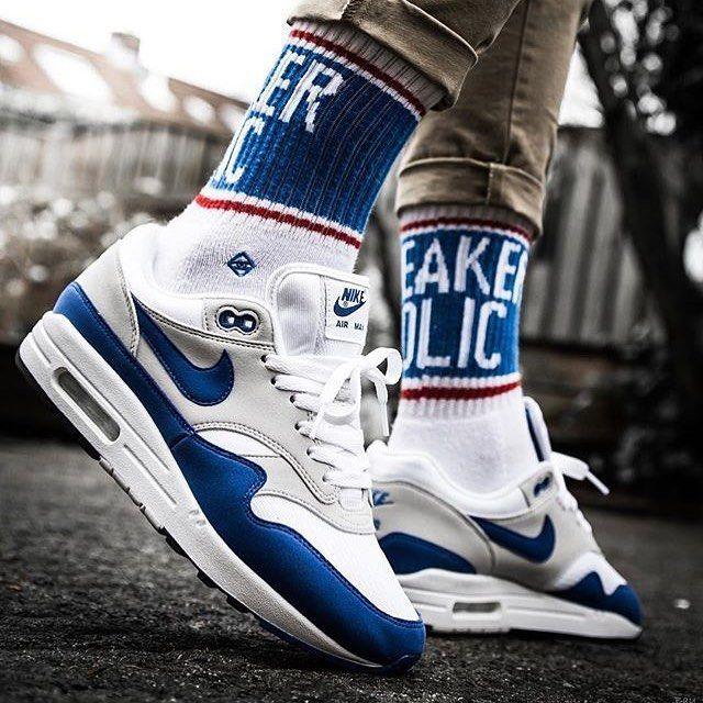 Blue N Whites Airmax Nike Sneakers Nike Sneakers Hot Sneakers