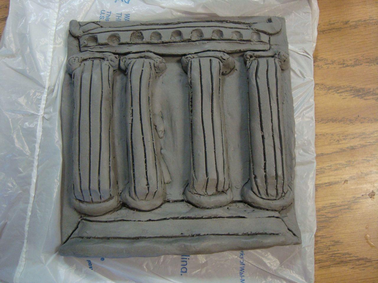 Greek Temple Clay Slab Facade