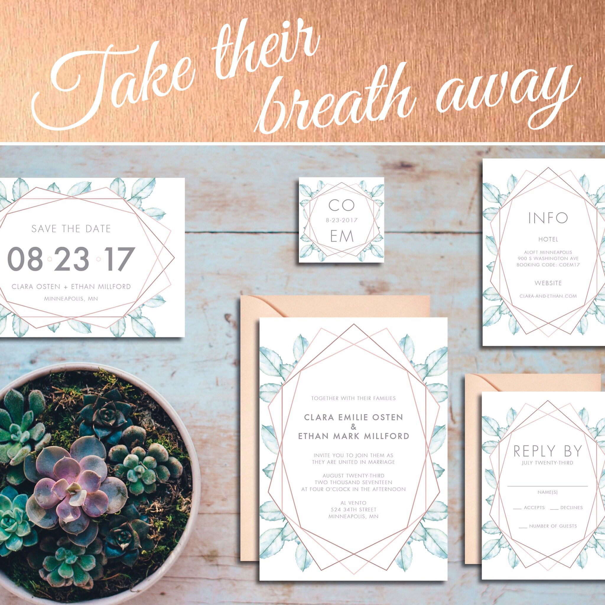 This invitation design is gasp-worthy! 😍 HUGE 40% OFF SALE ON ALL ...
