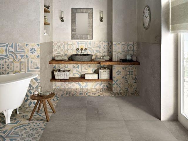 Pavimenti e rivestimenti in colore pastello sbiadito per lo stile