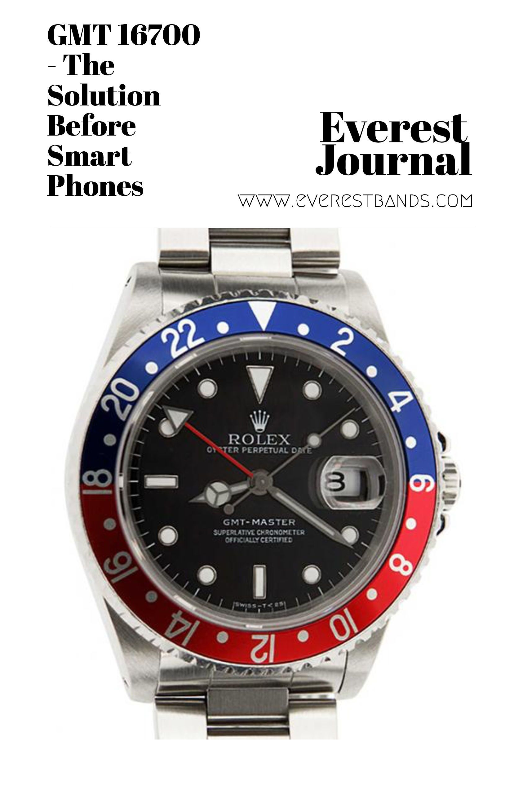 Gmt 16700 The Solution Before Smart Phones Rolex Gmt Gmt Solutions