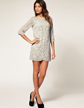 Winter Cocktail Dress with Sleeves