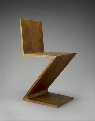 Mfah Collections Arts Of Europe Zig Zag Chair Zigzag Chairs Chair Design Chair