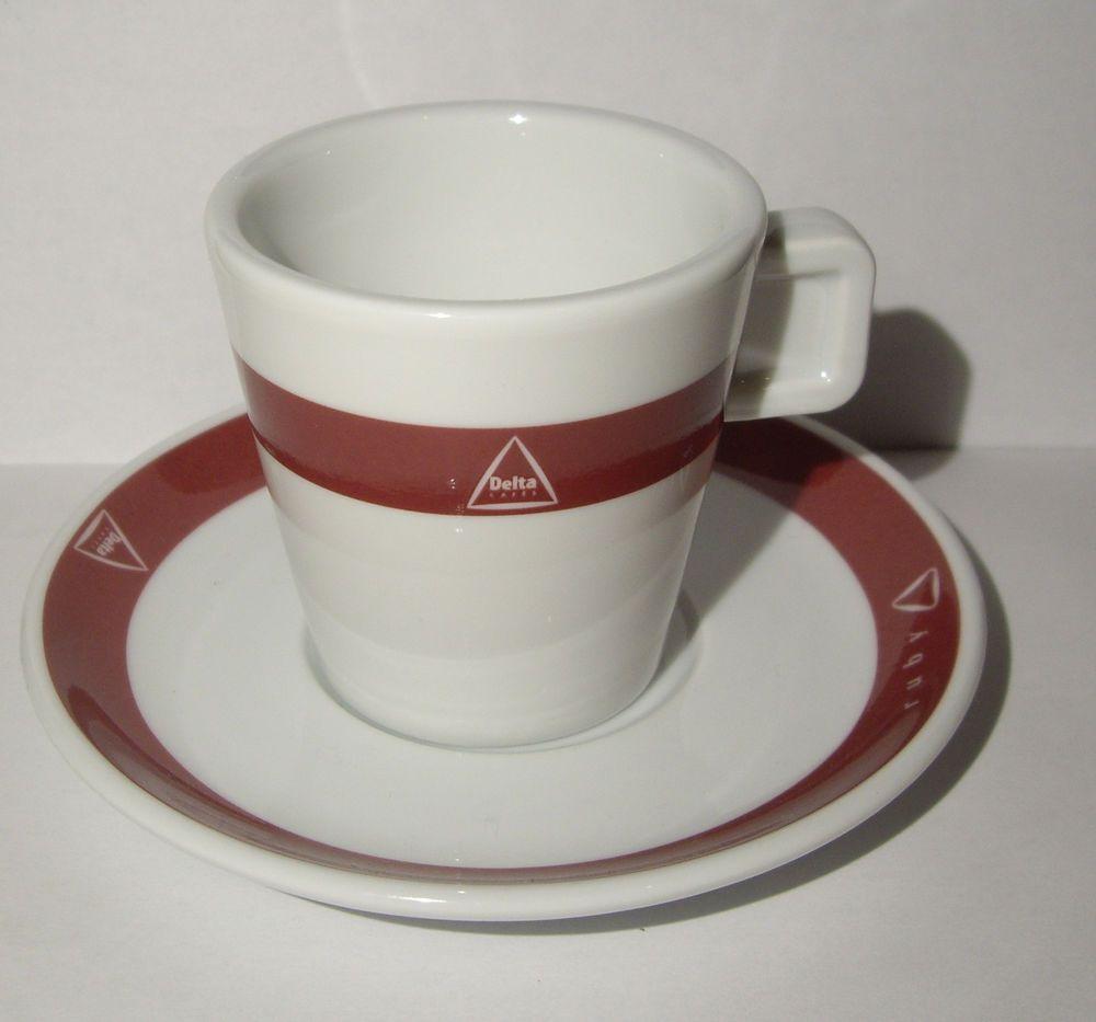 Delta Portuguese porcelain cup of coffee, half Milk Purple List - Portugal