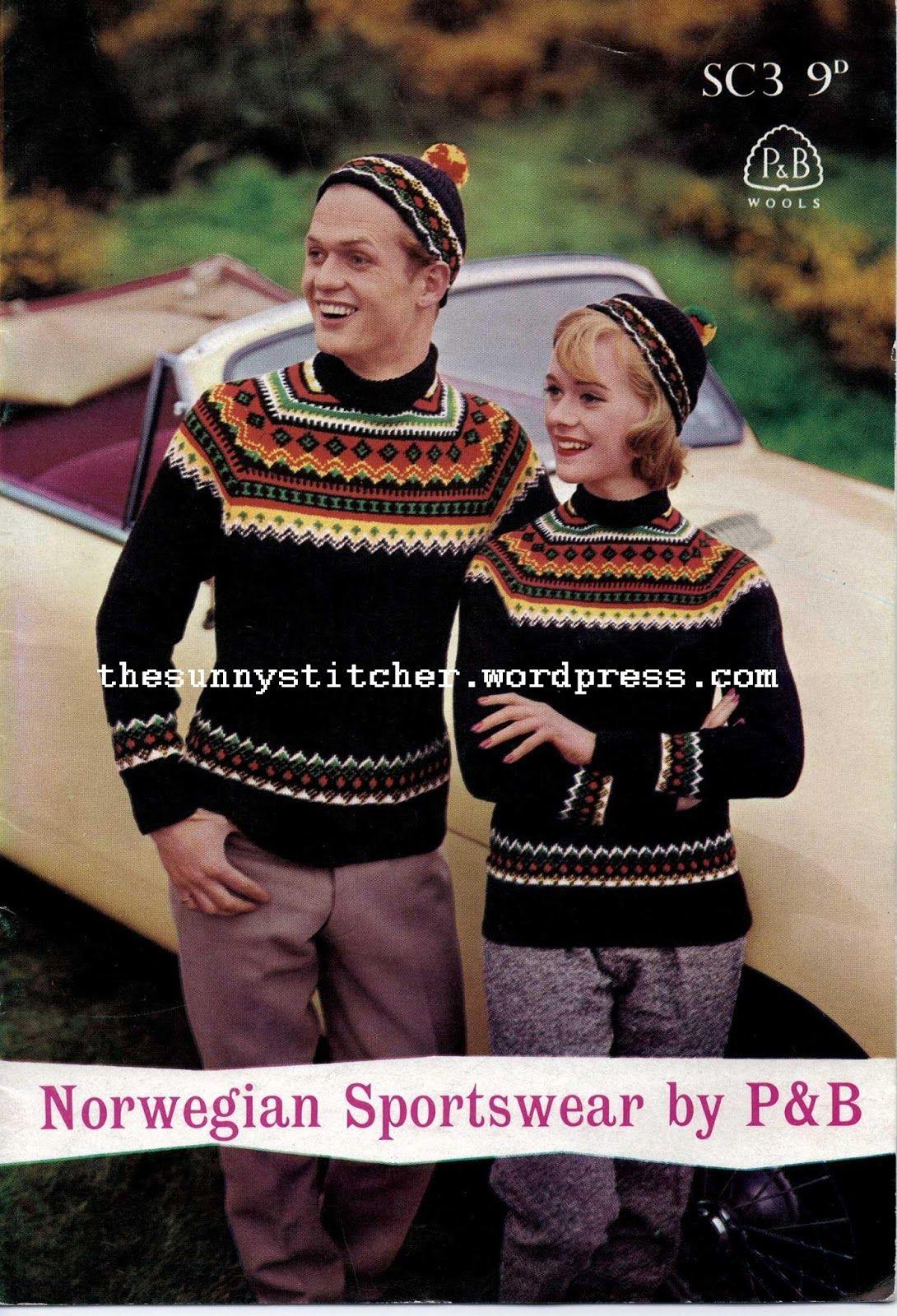 1950\'s Knitting - Norwegian Sportswear Patterns free pattern | Gamle ...