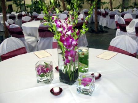 Elegant Party Decoration Ideas flowers for wedding table