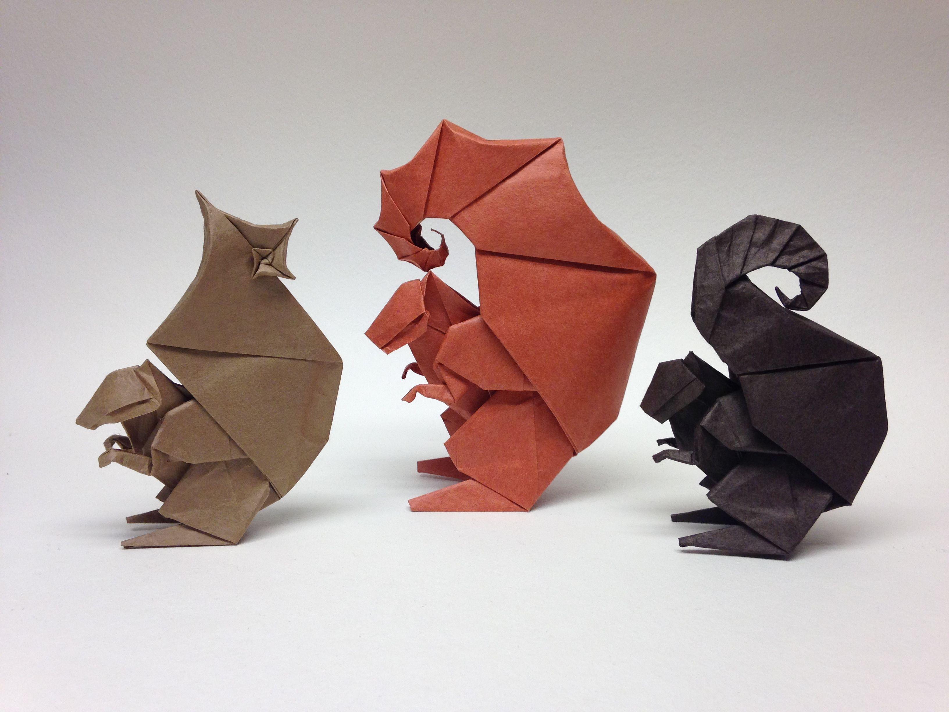 Squirrels Jpg 3264 2448 Origami Hedgehog Origami Paper Butterflies