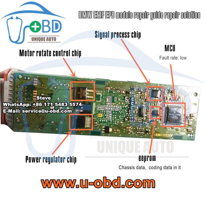 Bmw Emf Epb Electronic Parking Brake Module Repair Guide Repair Solutions Repair Repair Guide Bmw