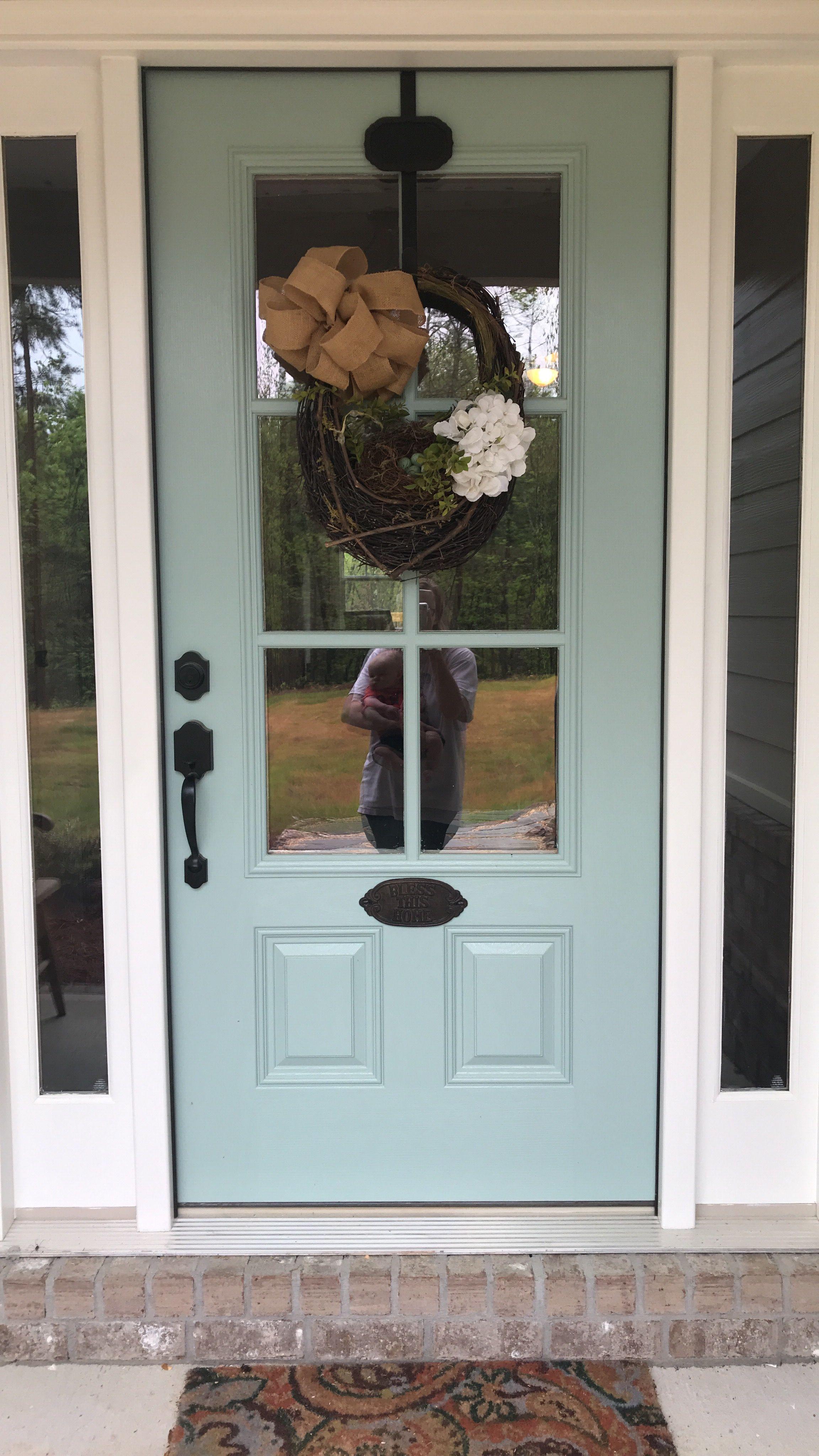 Modern Farmhouse Decor Ideas Wythe Blue Front Door Painted