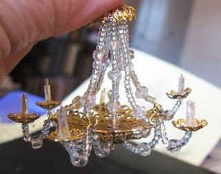 Casey's Minis: Of Silk Purses and Sow's Ears.....chandelier tutorial