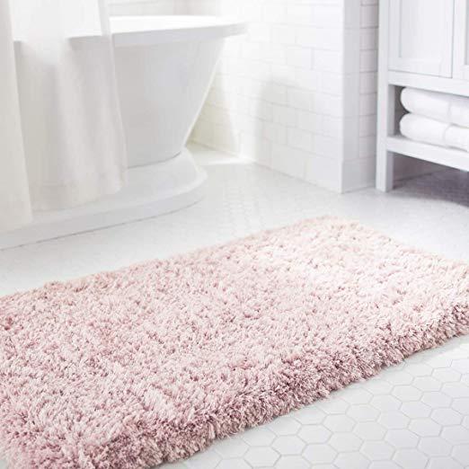 Amazon Com Norcho Soft Shaggy Bath Mat Non Slip Rubber Bath Rug