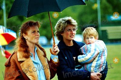 Prince Harry with Princess Diana and Sarah Ferguson!!!