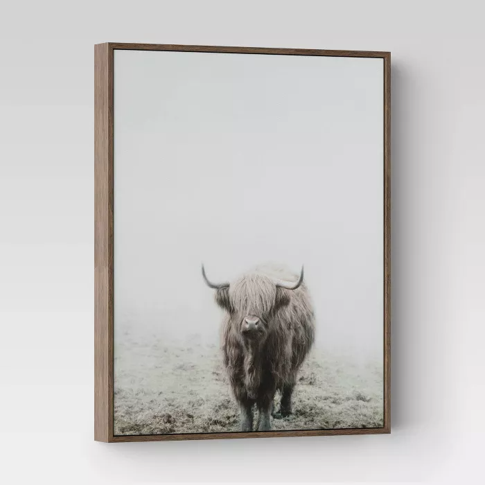 16 X 20 Highland Cow Framed Wall Canvas Threshold Target Framed Wall Canvas Cow Wall Art Frames On Wall