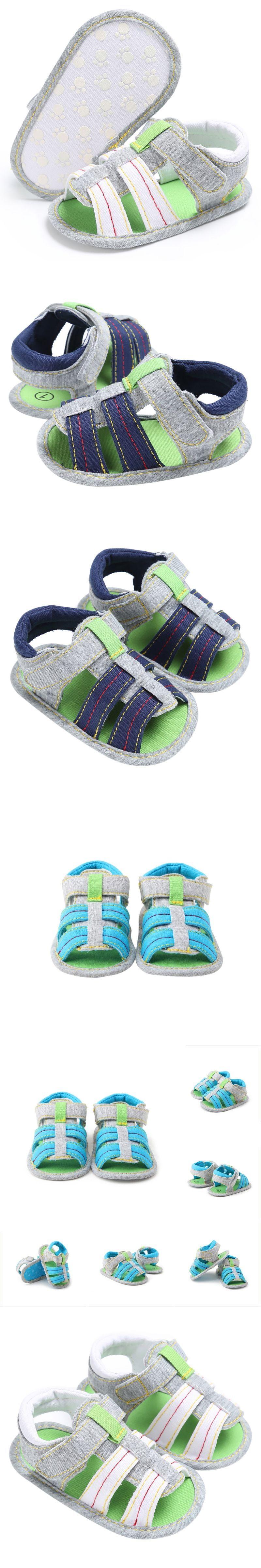 2017 Summer Baby Leisure Prewalker Soft Sole Striped Beach Shoes