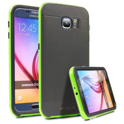 Original UrCover® Samsung Galaxy S6 Case Extra Slim Fit Dual Layer Schutz Hülle Case Cover [Doppelter Schutz] [Grün] 14,90€