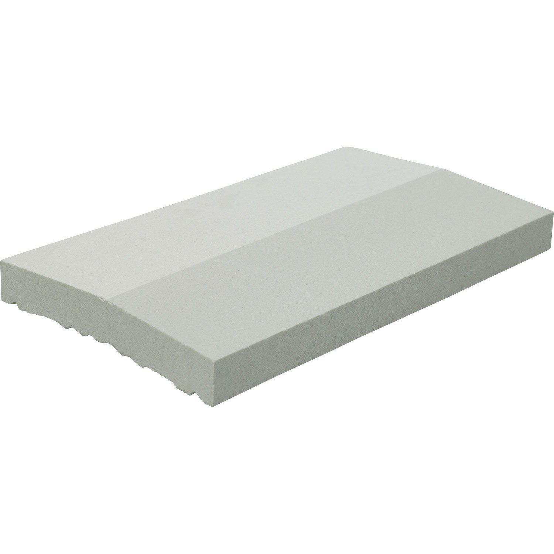 Couvre Mur 2 Pans Lisse Blanc H4 X L28 X P49 Cm