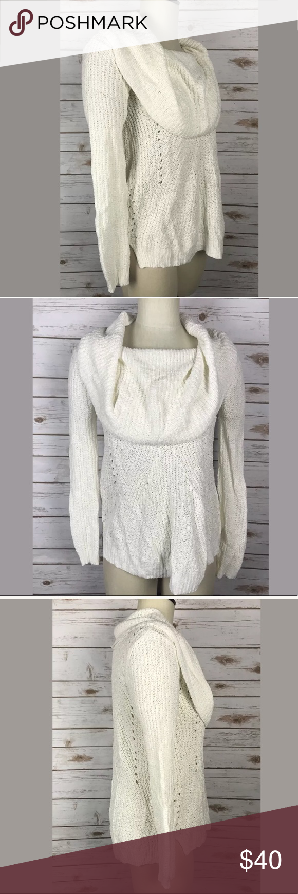 Anthropologie Moth Cowl Neck Sweater XS NWT