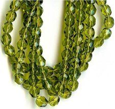 6mm Fire Polish Round Czech Glass Beads - Dark Olivine Faceted [Office Product] - $2.95