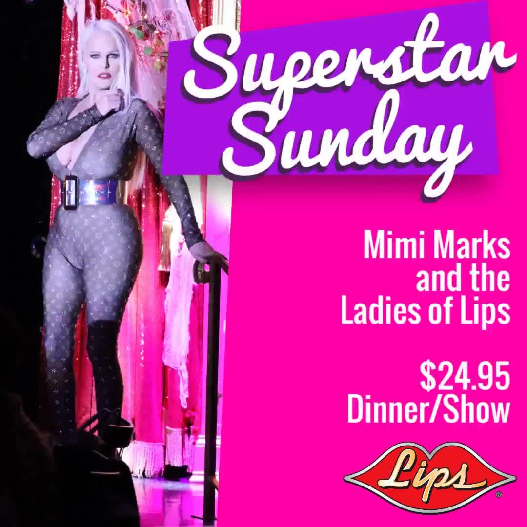 TONITE - Mimi Marks and the Sunday Superstars!  Enjoy Lips $24.95 Superstar 3 Course Dinner and Show Package!  #weekend #sundayfunday #chicago #rivernorth #westloop #streeterville #skyscraper #chitownlove #westcoastbaby #chicagolove