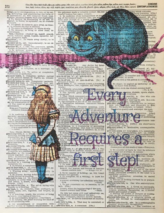 Alice In Wonderland Quotes,Wonderland Quotes, Color Affirmations, Quotes, Lewis Carroll Prints, Adventure, Alice In Wonderland, Alice Prints
