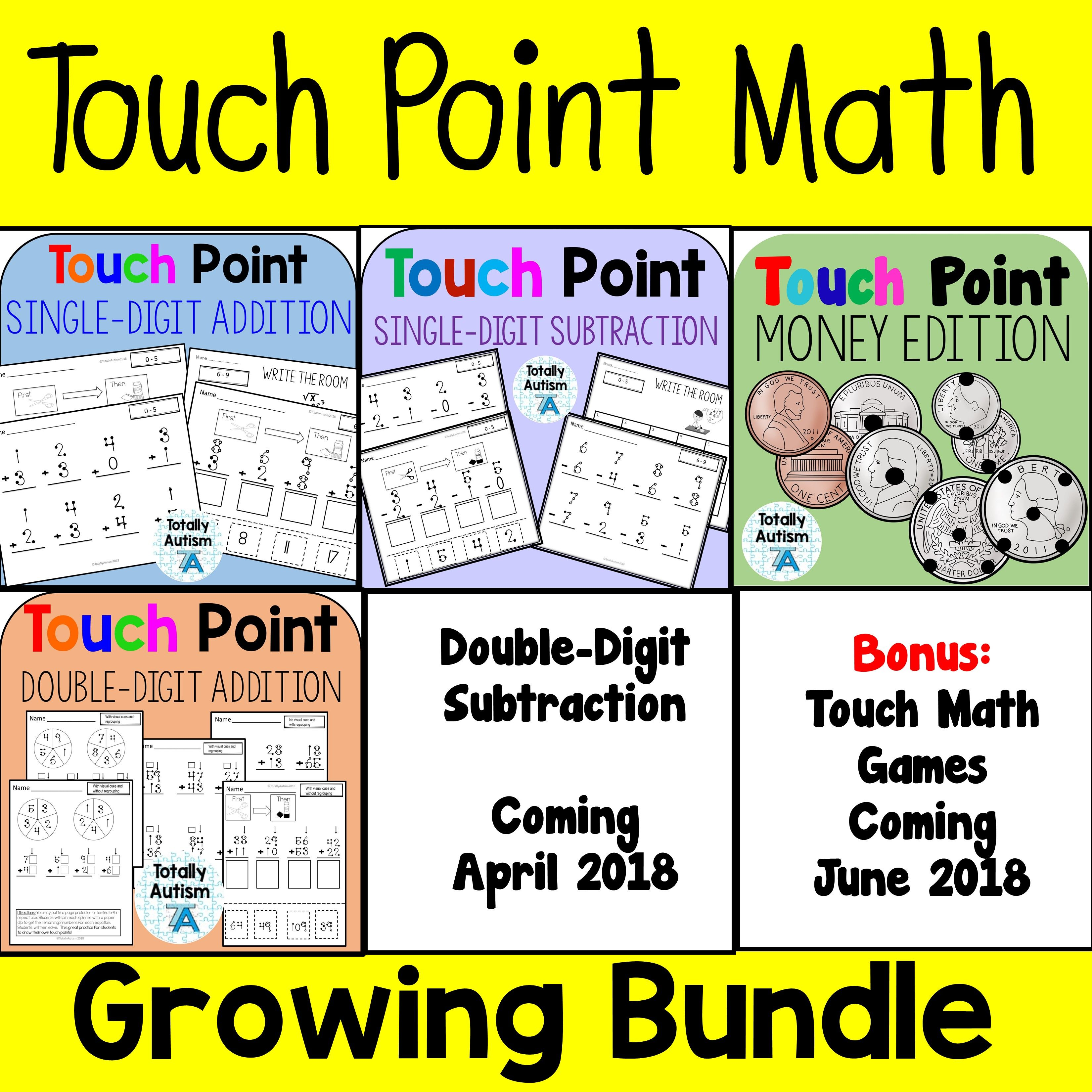 Touch Number Math Bundle With Images