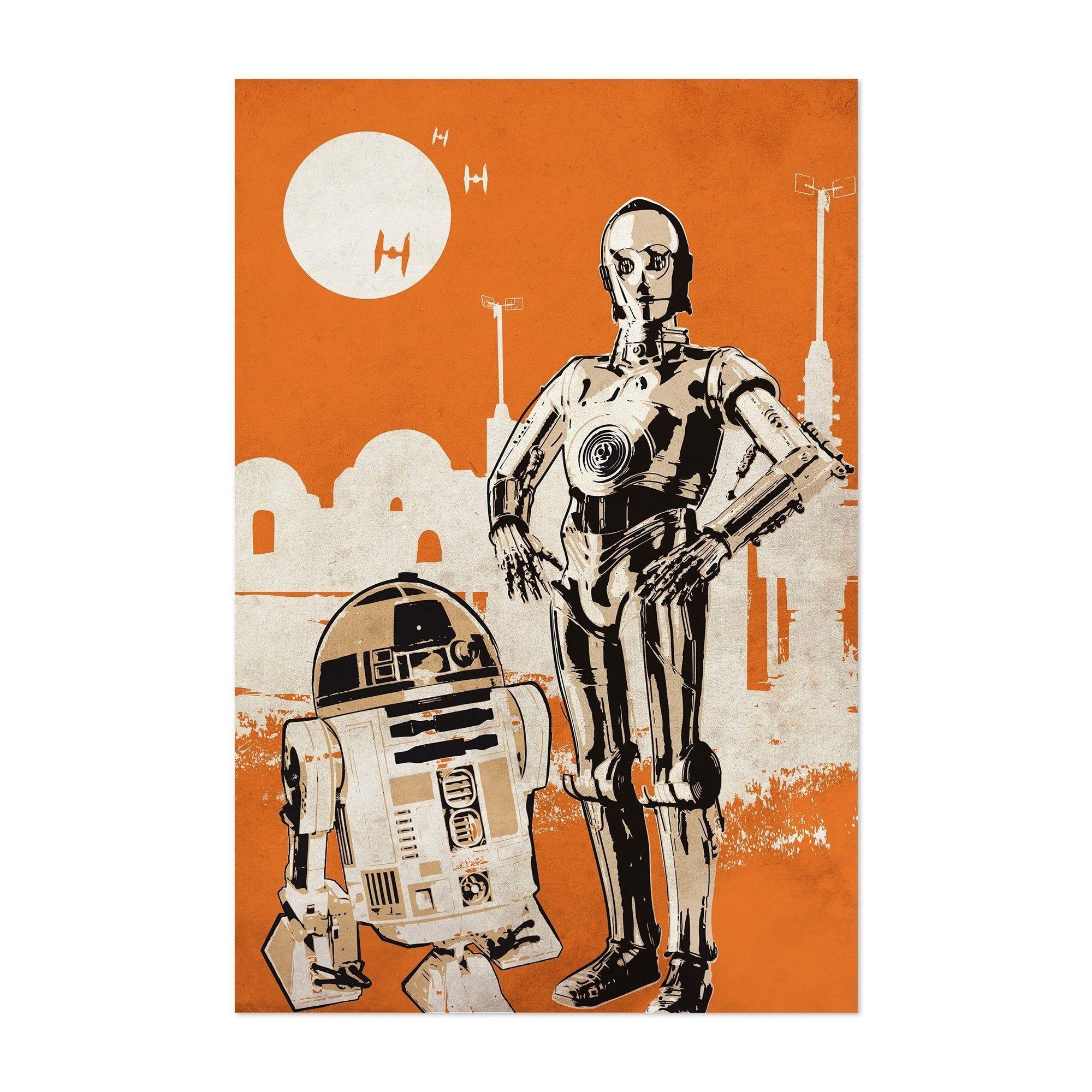 STAR WARS Robots Droids C-3PO Movie Gift Disney Poster UNFRAMED NEW