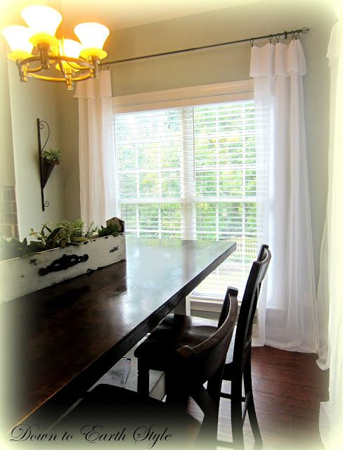 Down to Earth Style: White Flowing Curtains - Easy and Cheap