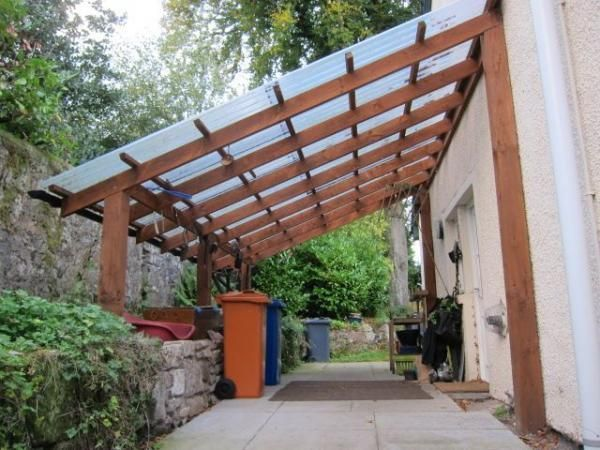how to build a free standing lean to roof