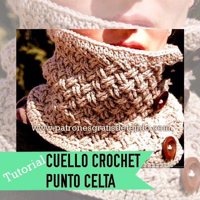 cuello crochet punto celta   Crochet y Dos Agujas   Pinterest ...
