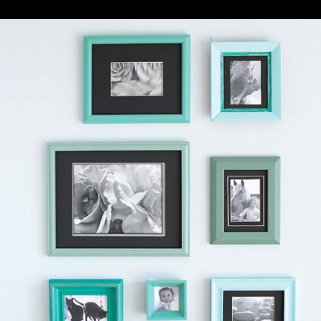 Revamped frames. http://www.myhomeideas.com/decorating/budget ...