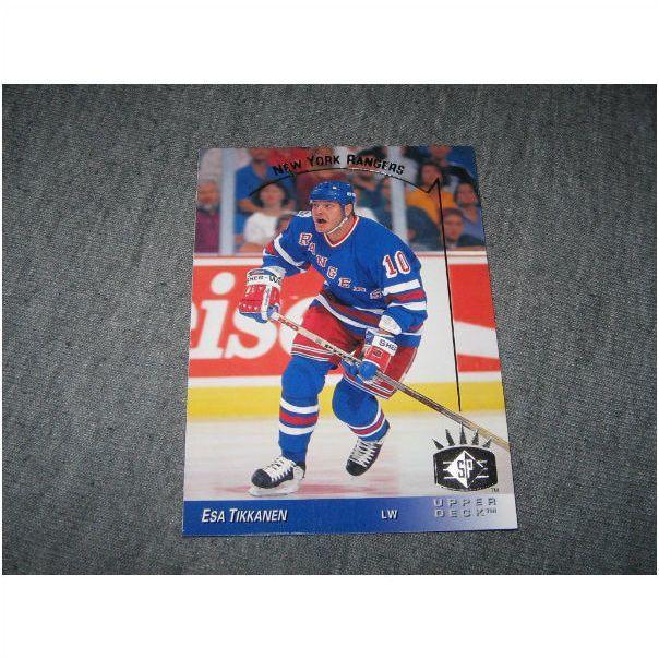 Rangers 93 94 Upper Deck Esa Tikkanen Sp Insert 104 25 Cents On Ebid United States 119351863 Ranger Upper Deck Hockey Cards