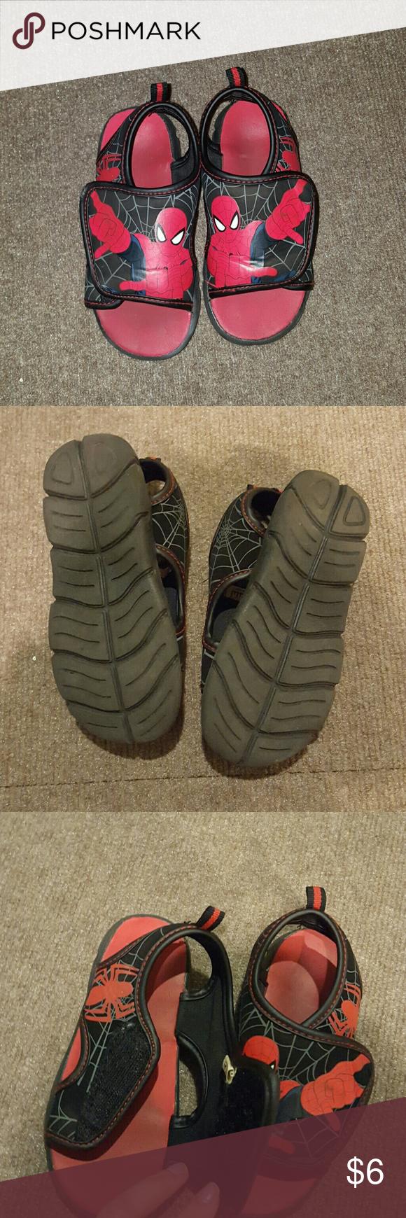Spider-Man sandals Spider-Man sandals  size: 9/10 Spiderman Shoes Sandals & Flip Flops