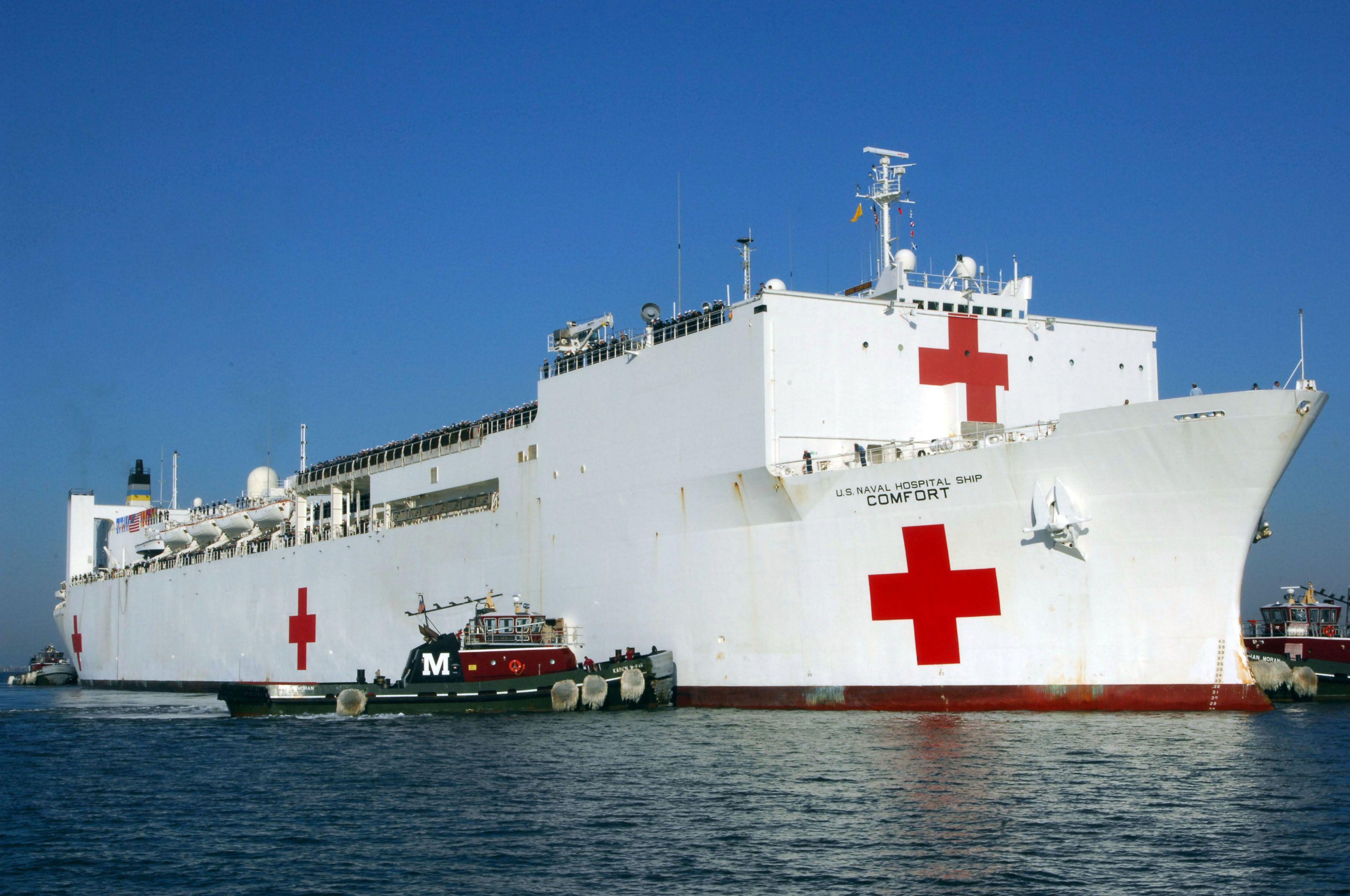 Uss Comfort Hospital Ship Us Navy Ships Navy Ships Boat