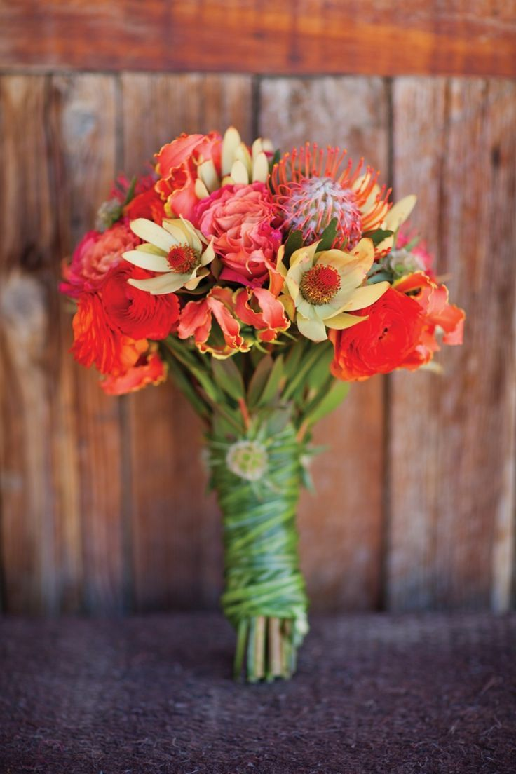 C Bouquet Of Roses Lilies Scabiosa And Pincushion Protea Pretty With All The Diffe Flowers Gaines Mcdearmon