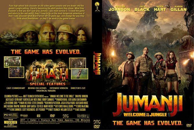 Jumanji Welcome To The Jungle 2017 Dvd Custom Cover Dvd Cover Design Custom Dvd Welcome To The Jungle