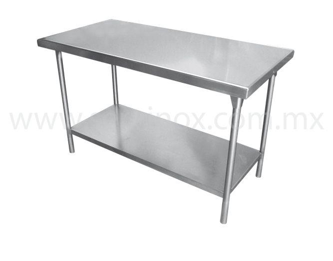 Mesa de trabajo t isla con piso mesa de trabajo tipo isla - Mesa de trabajo para cocina ...