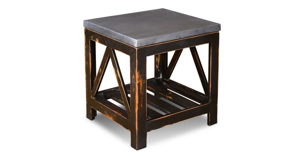 Elements Collection Zinc Top End Table With Images End Tables