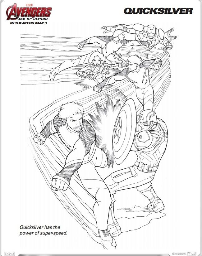 Avengers: Age of Ultron Coloring Sheets + Trailer | Pinterest ...