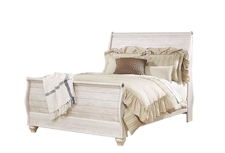 Ashley Willowton Queen Sleigh Bed In White *** Wonderful