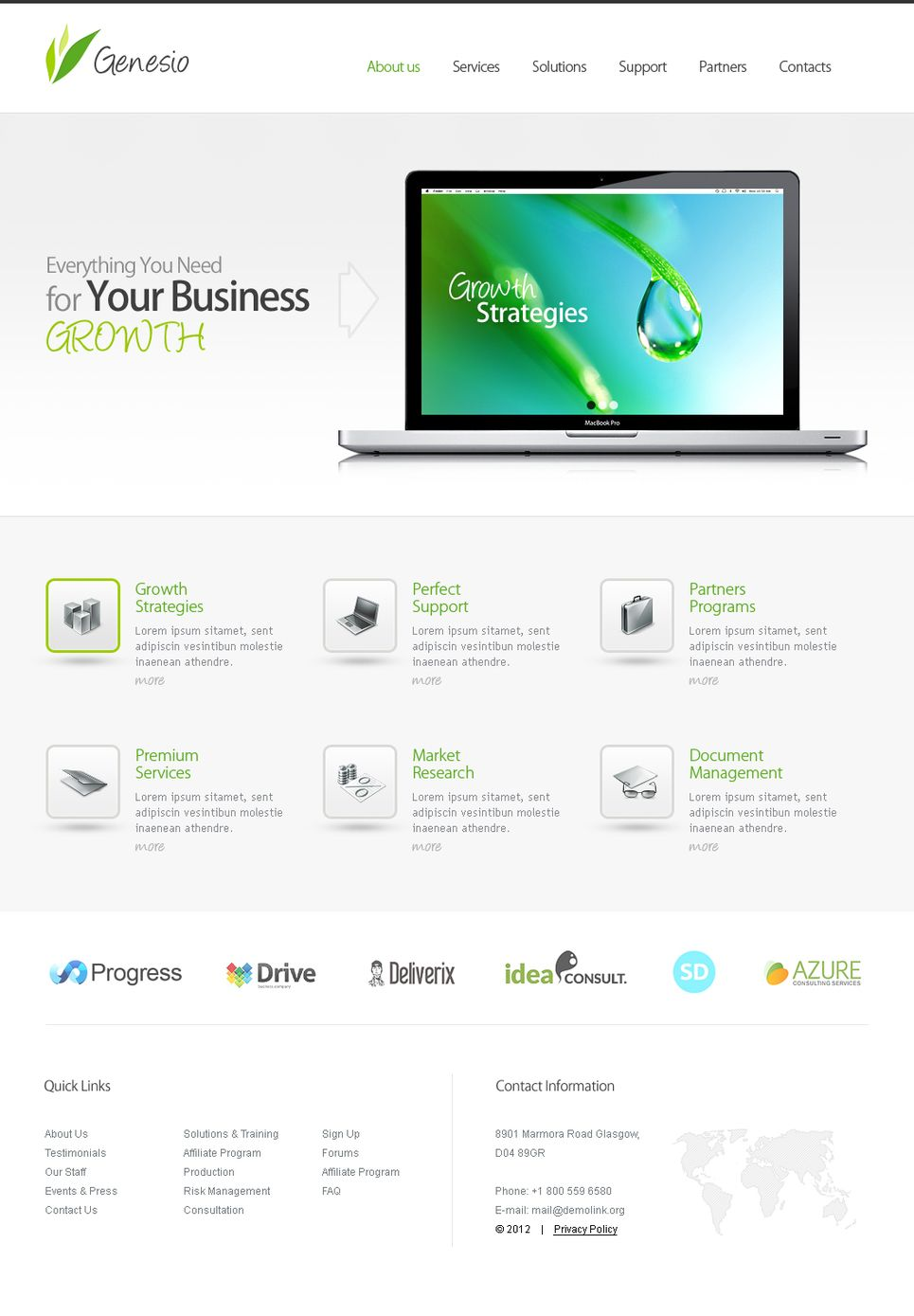 Business Services Moto Cms Html Template 40882 Html Templates Templates Web Design Software
