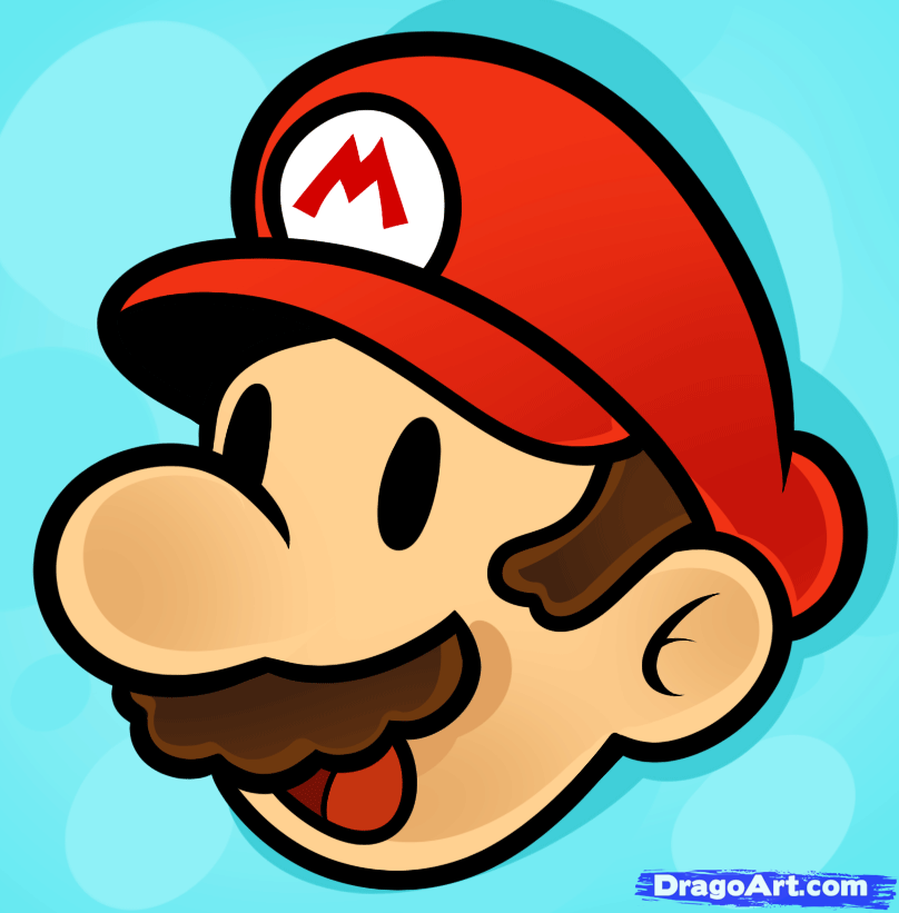 How To Draw Mario Easy By Dawn With Images How To Draw Mario