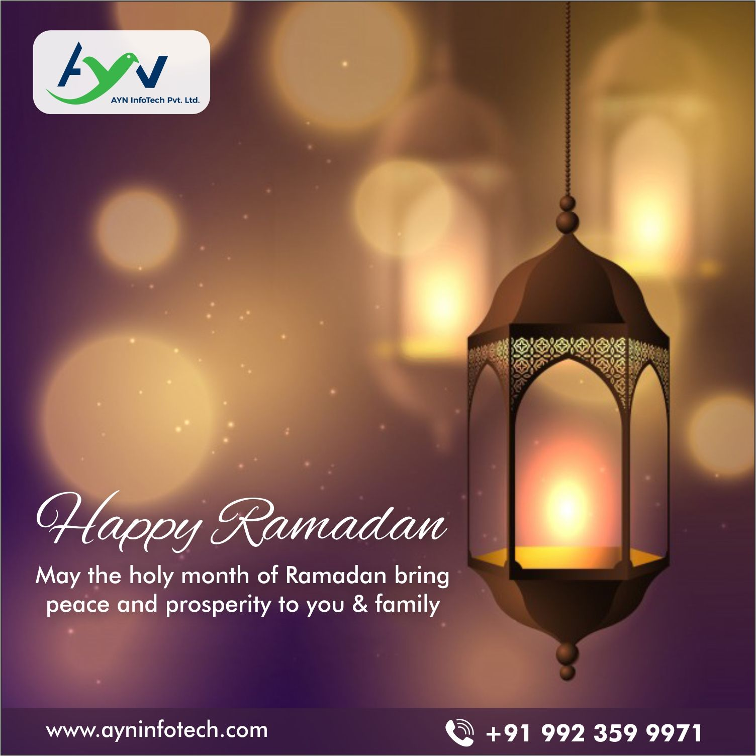 The month of ramadan with the heart filled with