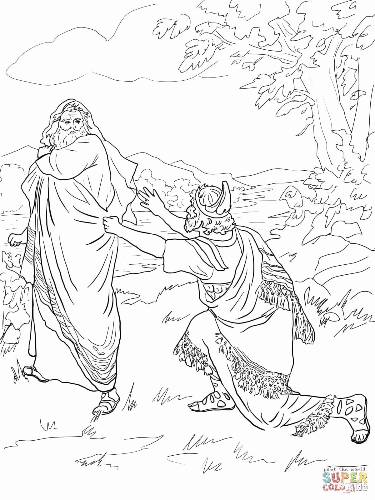 David And Mephibosheth Coloring Page Unique King Saul Coloring