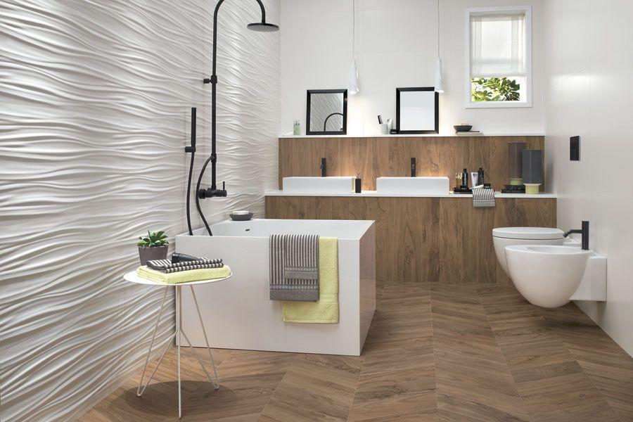 3d Wall Design Ribbon Geschwungene Wellen Beleben Die Wande Mit Tiefer Harmonie Die Dreidimensionalen Kerami Wandgestaltung Holzwand Fliesen Moderne Fliesen