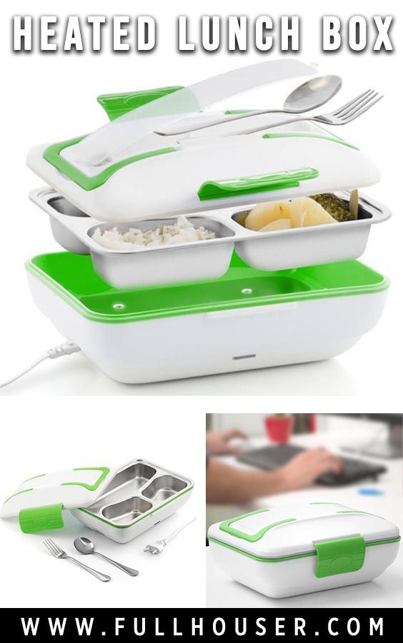 Electric Heated Lunch Box | An electric lunch box with internal stainless steel tray. A