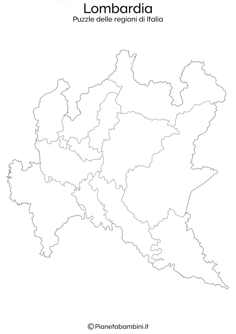 Puzzle Delle Regioni Ditalia Da Stampare Geografia Pinterest