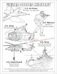 military branches color page | Daycare fun | Pinterest | Military ...