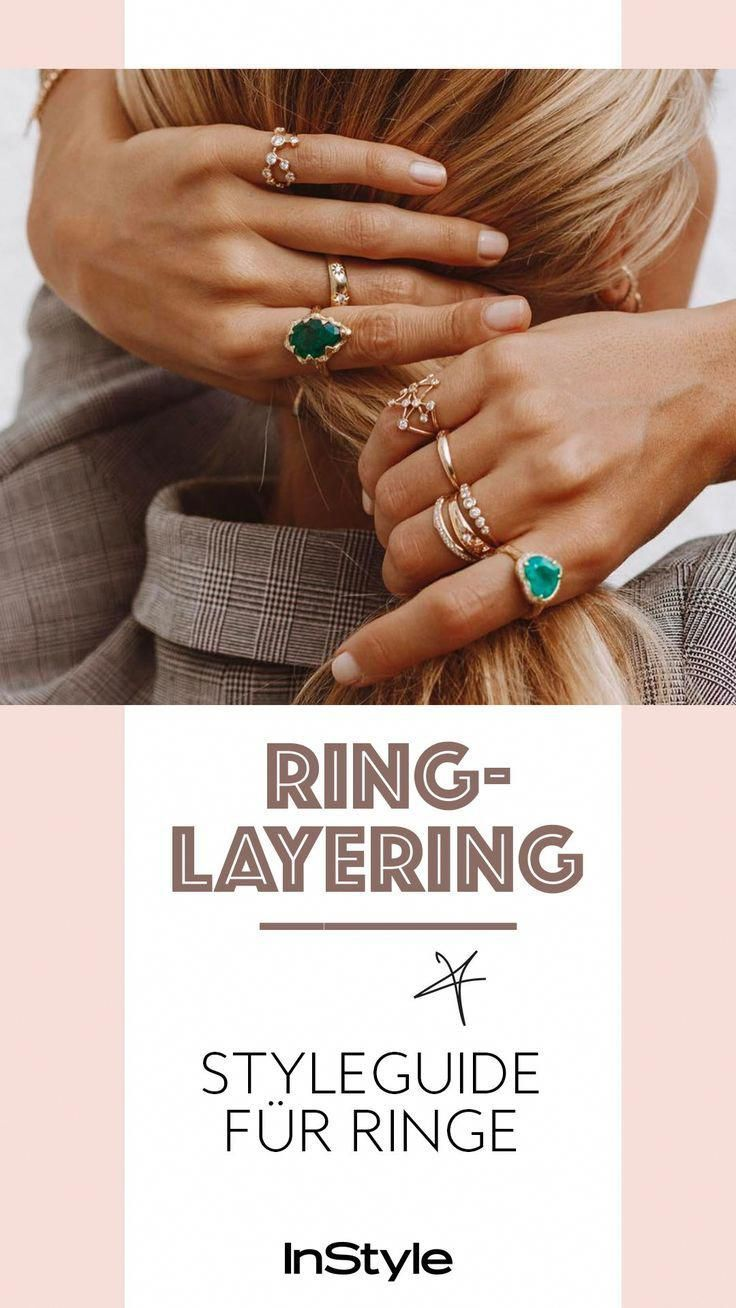 Style Hack How to combine multiple rings on one hand